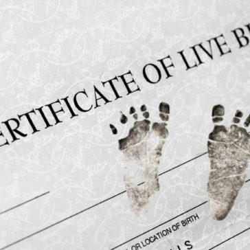 Feet Birth Certificate