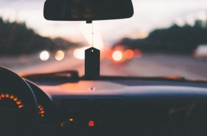 view from a car dashboard