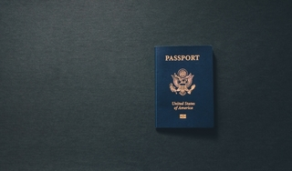 passport on a desk